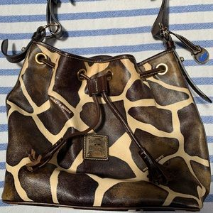 Dooney & Bourke giraffe print purse
